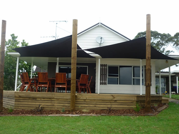 Verandah Curtain Dual Shade Sails Off Deck