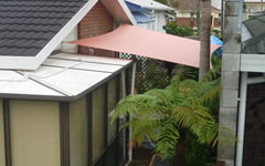 perfect shade sail for a small outdoor area