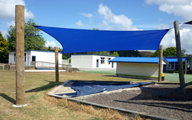 shade sail over sandpit